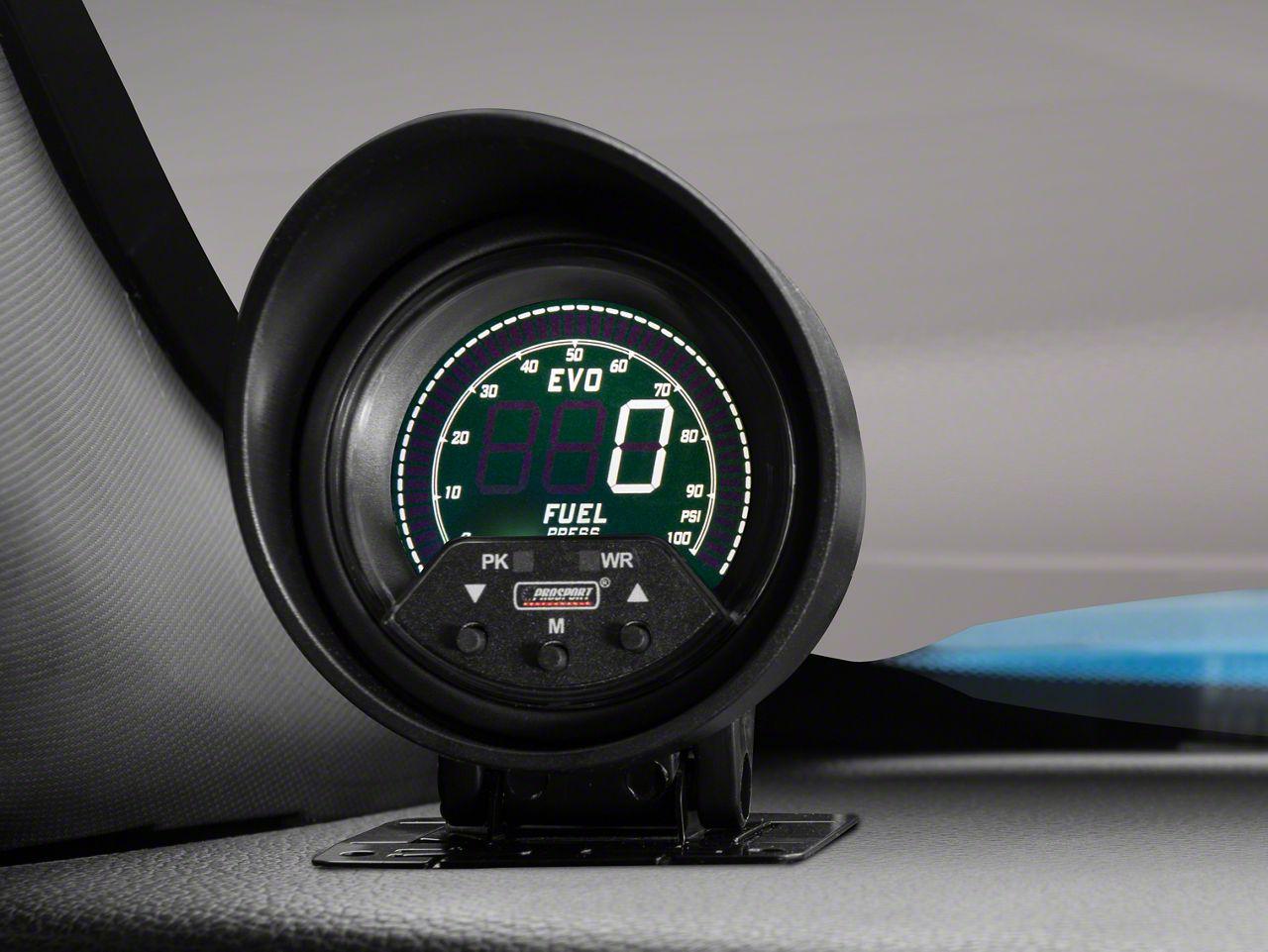 Prosport Premium Quad Color Fuel Pressure Digital Gauge - Electrical (08-19 All)