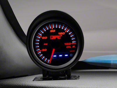 Prosport Dual Display Oil Pressure Gauge - Electrical - Amber/White (08-19 All)