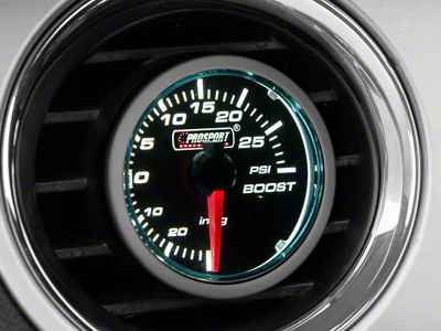 Prosport Dual Color 30 PSI Boost/Vac Gauge - Electrical - Blue/White (08-19 All)