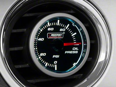 Prosport Dual Color Oil Pressure Gauge - Electrical - Blue/White (08-19 All)