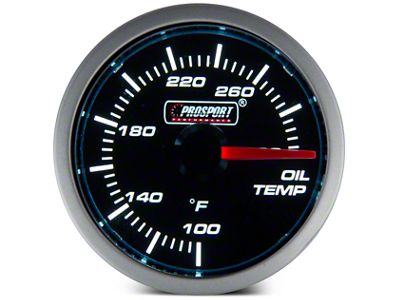 Prosport Dual Color Oil Temp Gauge - Electrical - Blue/White (08-19 All)