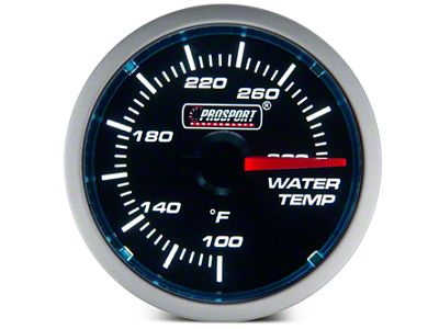 Prosport Dual Color Water Temp Gauge - Electrical - Blue/White (08-19 All)