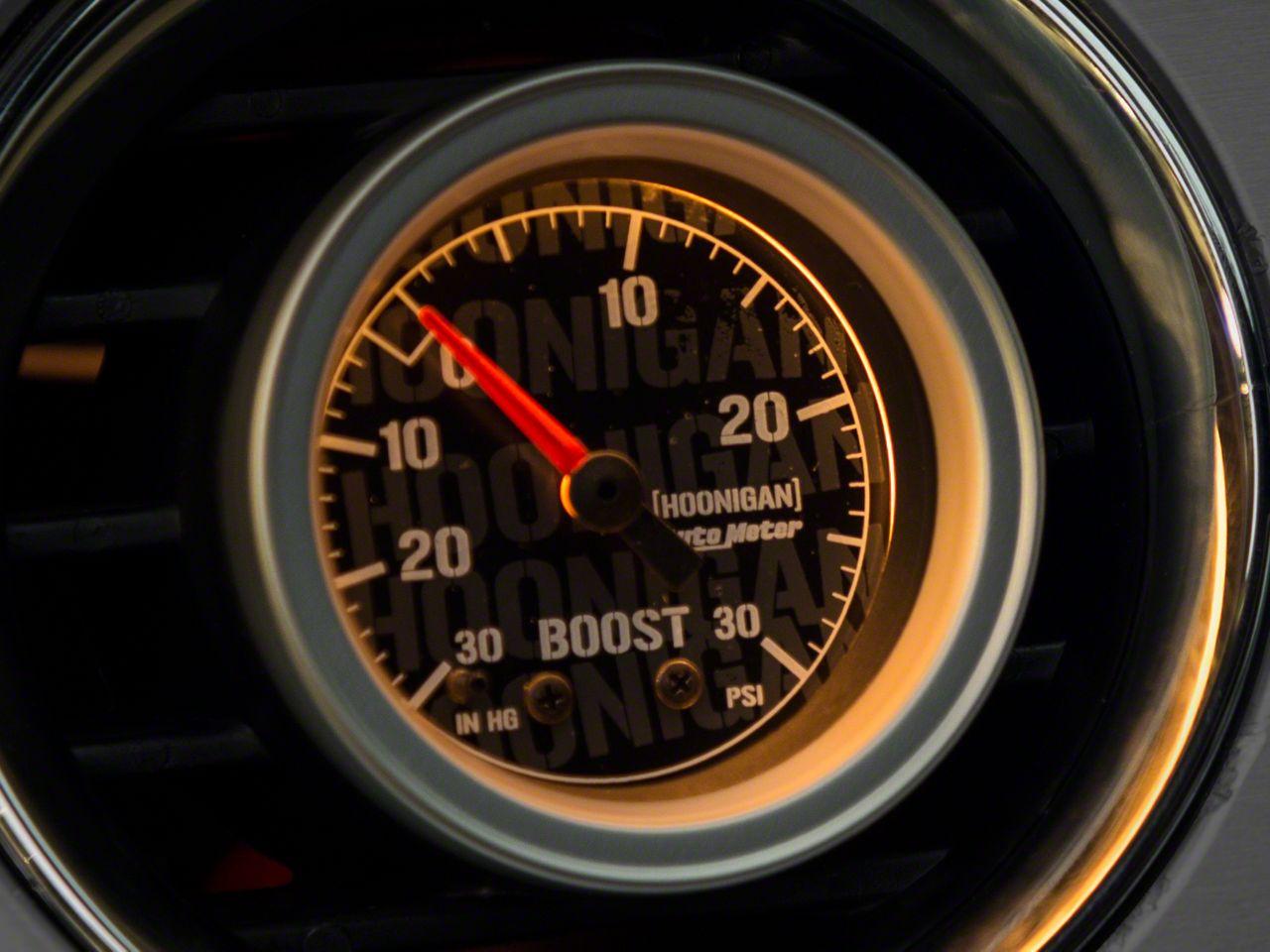 Auto Meter Hoonigan 30 PSI Boost/Vacuum Gauge - Mechanical (08-18 All)