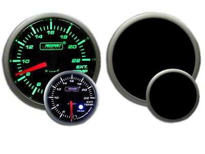 Prosport Dual Color EGT Premium Boost Gauge - Green/White (08-19 All)