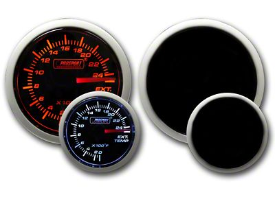 Prosport Dual Color Exhaust Gas Temperature Gauge - Amber/White (08-19 All)