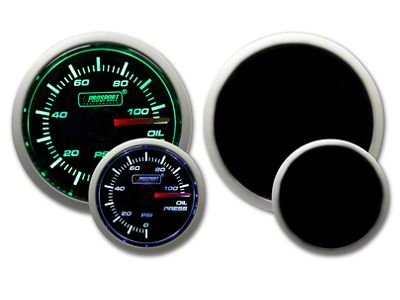 Prosport Dual Color Oil Pressure Gauge - Electrical - Green/White (08-19 All)