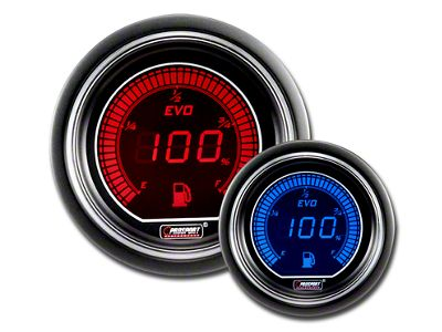 Prosport Dual Color Evo Fuel Level Gauge - Electrical - Red/Blue (08-19 All)