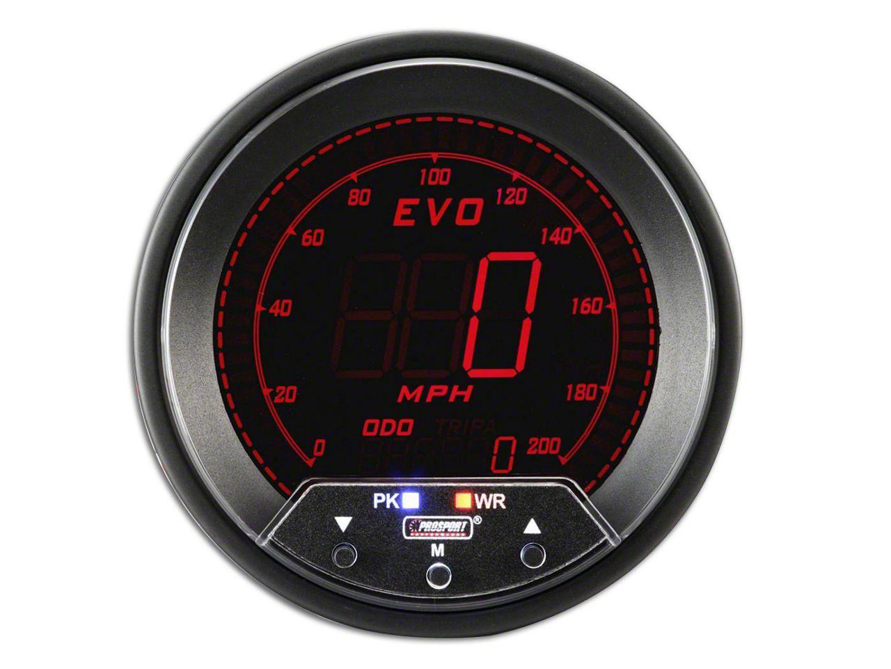 Prosport Quad Color Evo Speedometer - 85mm (08-19 All)