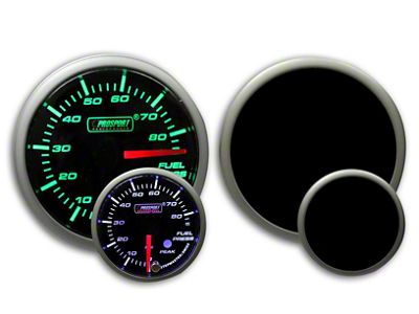 Prosport Dual Color Premium Fuel Pressure Gauge - Green/White (08-19 All)