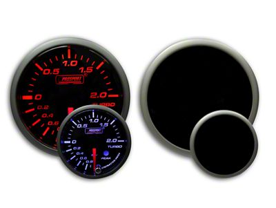 Prosport Dual Color Premium Metric Boost Gauge - Amber/White (08-19 All)