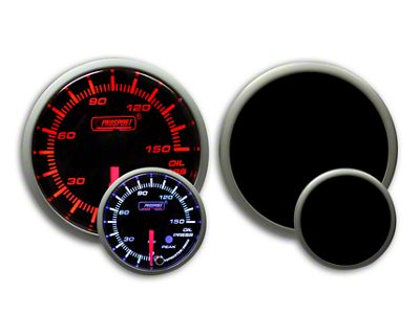 Prosport Dual Color Premium 0-150 PSI Oil Pressure Gauge - Amber/White (08-19 All)