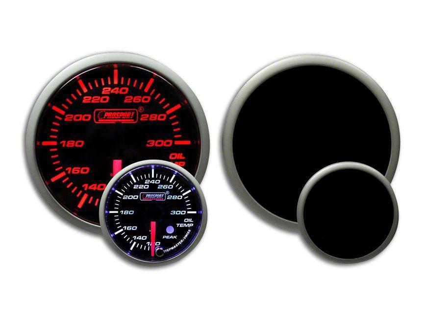 Prosport Dual Color Premium Oil Temperature Gauge - Amber/White (08-19 All)