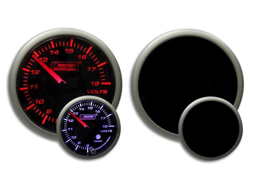 Prosport Dual Color Premium Volt Gauge - Amber/White (08-19 All)
