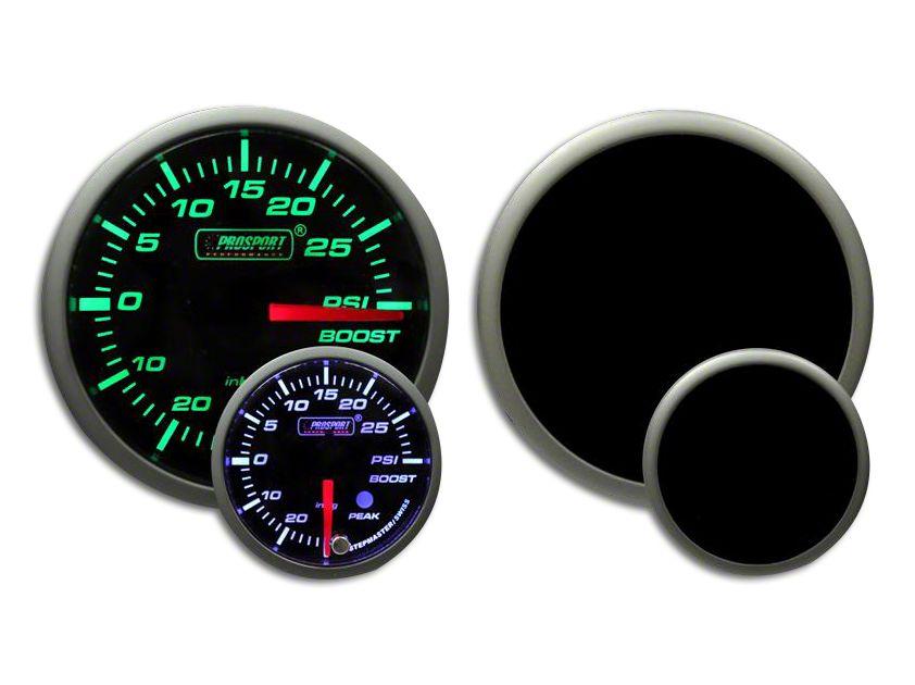 Prosport Dual Color Premium White Pointer Boost Gauge - Green/White (08-19 All)