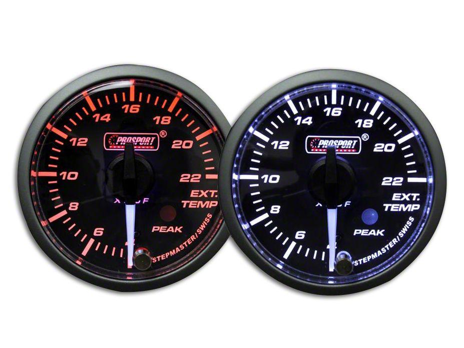 Prosport Dual Color Premium White Pointer EGT Gauge - Amber/White (08-19 All)