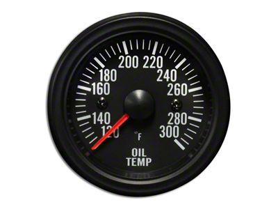 Prosport White LED Oil Temperature Gauge - Electrical (08-19 All)