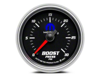 Mopar Boost Gauge - Digital Stepper Motor - Black (08-19 All)