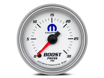Mopar Boost Gauge - Digital Stepper Motor - White (08-19 All)