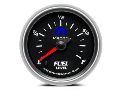 Mopar Fuel Level Gauge - Digital Stepper Motor - Black (08-19 All)