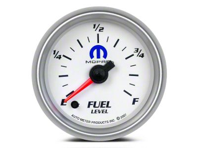 Mopar Fuel Level Gauge - Digital Stepper Motor - White (08-19 All)