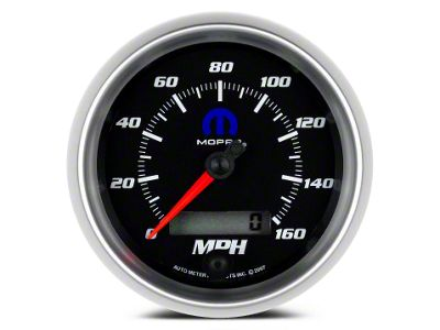 Mopar 3-3/8 in. Speedometer - Electrical - Black (08-19 All)