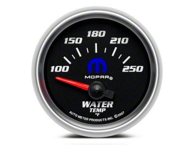 Mopar Water Temperature Gauge - Electrical - Black (08-19 All)