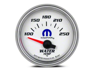 Mopar Water Temperature Gauge - Electrical - White (08-19 All)