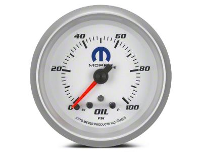 Mopar Oil Pressure Gauge - Digital Stepper Motor - White (08-19 All)
