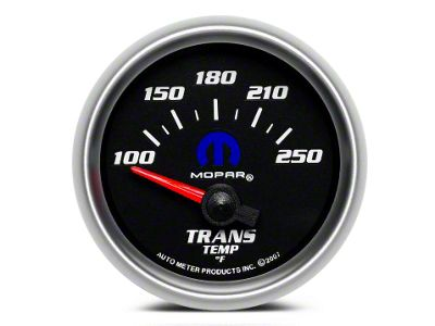 Mopar Transmission Temp Gauge - Electrical - Black (08-19 All)