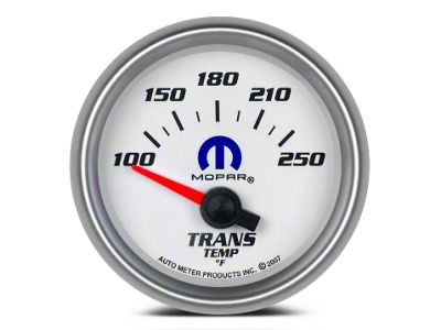 Mopar Transmission Temp Gauge - Electrical - White (08-19 All)