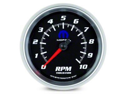 Mopar 3-3/8 in. In-Dash Tachometer - Black (08-19 All)