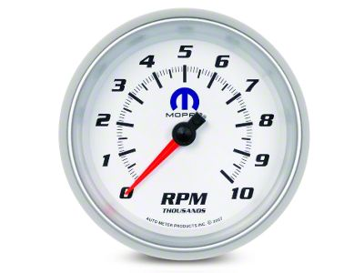 Mopar 3-3/8 in. In-Dash Tachometer - White (08-19 All)