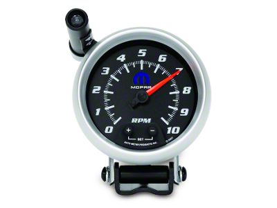 Mopar 3-3/4 in. Pedestal Tachometer w/ Shift Light - Black (08-19 All)