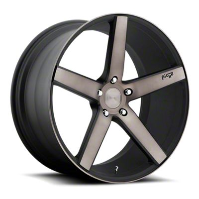 Niche Milan Black Machined Wheel - 22x9 (08-19 All)