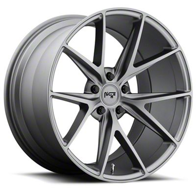 Niche Misano Matte Gunmetal Wheel - 18x8 (08-19 All, Excluding Demon & Hellcat)