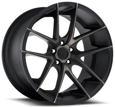 Niche Targa Black Machined Wheel - 22x9 (08-19 All)