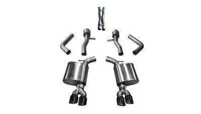 Corsa Sport Cat-Back Exhaust w/ Twin Black RoundTips (17-19 5.7L HEMI)