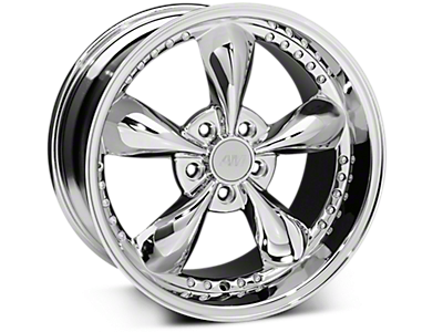 Chrome Bullitt Motorsport Wheels<br />('79-'93 Mustang)