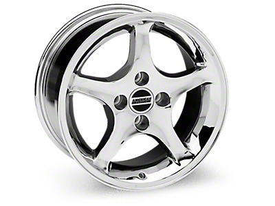 Chrome 1995 Cobra R Wheels<br />('79-'93 Mustang)