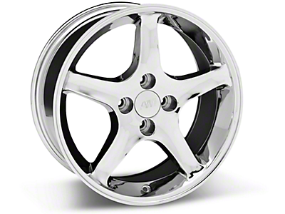 Chrome 1995 Cobra R Wheels<br />('99-'04 Mustang)