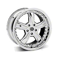 Chrome Shelby Razor Wheels 2005-2009