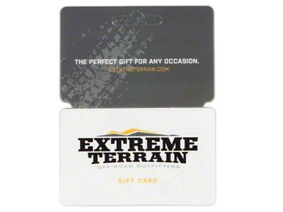 ExtremeTerrain Gift Card / Gift Certificate (E-mailed)