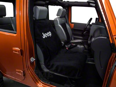 Seat Armour Jeep Letters Seat Cover - Black (87-18 Jeep Wrangler YJ, TJ, JK & JL)