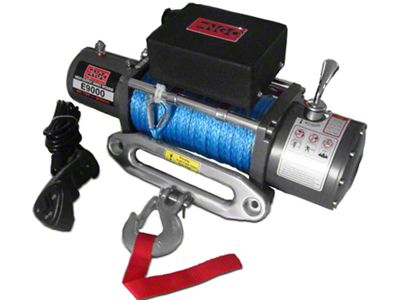 Engo 9,000 lb. 12 Volt Electric Winch with Synthetic Rope
