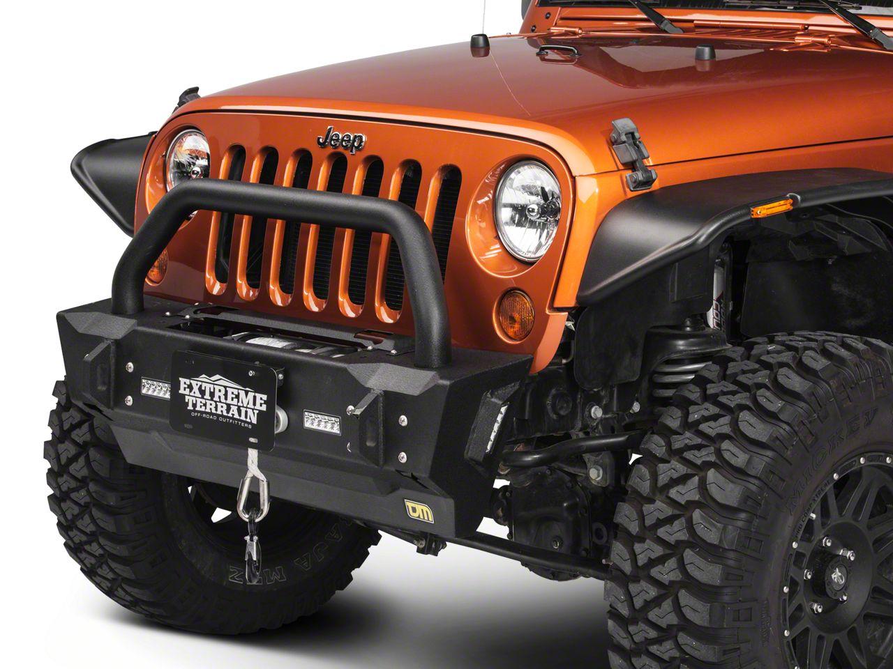 TJM Rock Krawler Front Bumper w/ LED Lighting (07-18 Jeep Wrangler JK)