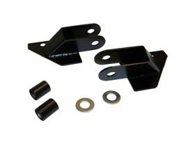 RT Off-Road Mirror Relocation Brackets - Black (87-95 Jeep Wrangler YJ)