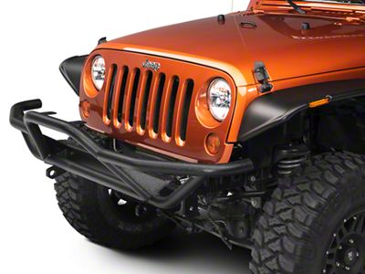 RedRock 4x4 Rock Crawler Front Grille Guard - Textured Black (07-18 Jeep Wrangler JK)
