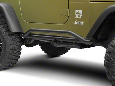 RedRock 4x4 Rocker Guard - Textured Black (87-06 Jeep Wrangler YJ & TJ, Excluding Unlimited)