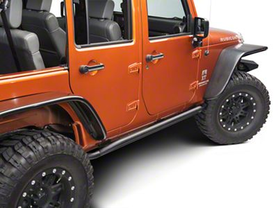 RedRock 4x4 Rocker Guard - Textured Black (07-18 Jeep Wrangler JK 4 Door)