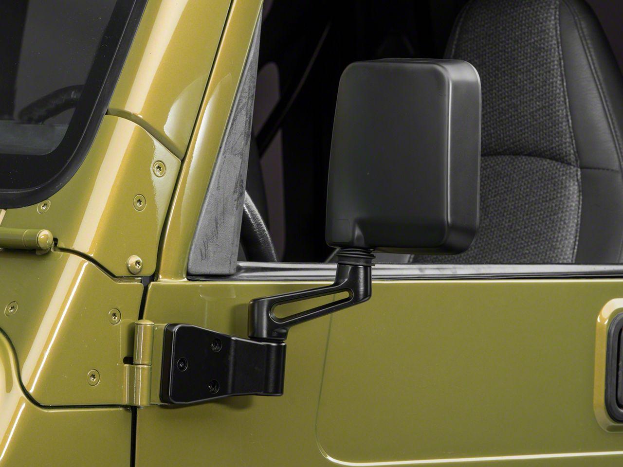 OPR Left Side Replacement Mirror - Black (87-02 Jeep Wrangler YJ & TJ)